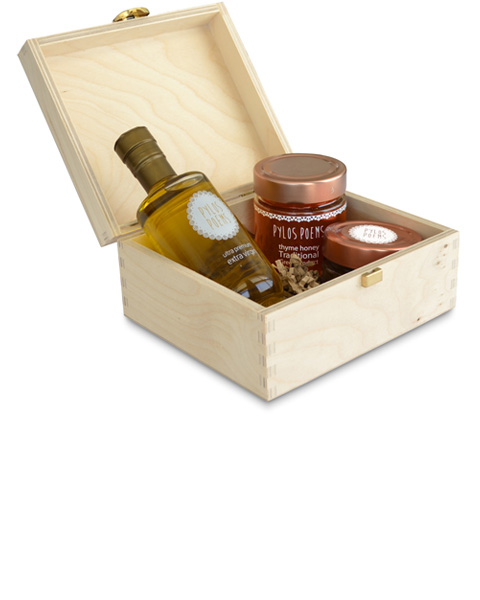 Gift Box - Olive Oil - Balsamic Honey - Pylos Poems